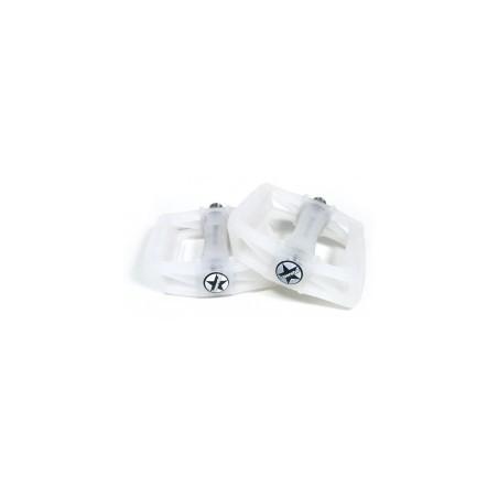 S* plastic pedals UV 9/16 white to purple