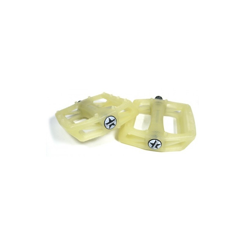 S* plastic pedals UV 9/16 yellow to brown