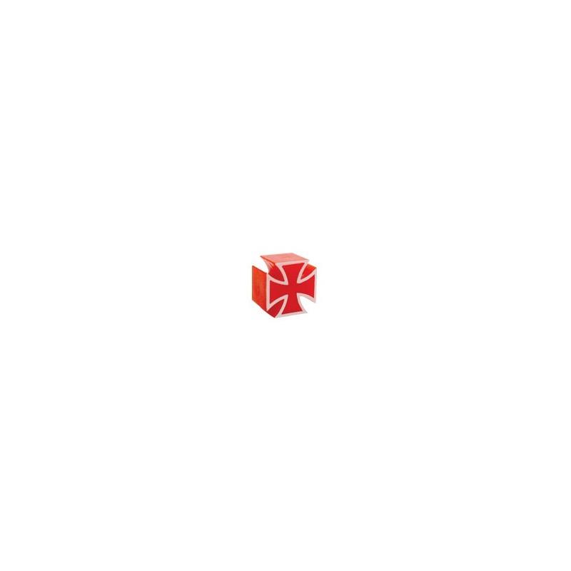 TRIK TOP VALVE CAPS IRONCROSS RED