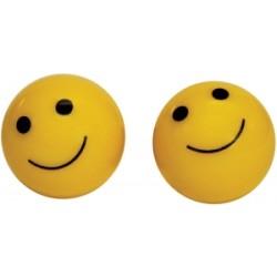 Weldtite Smiley Valve Caps in Yellow