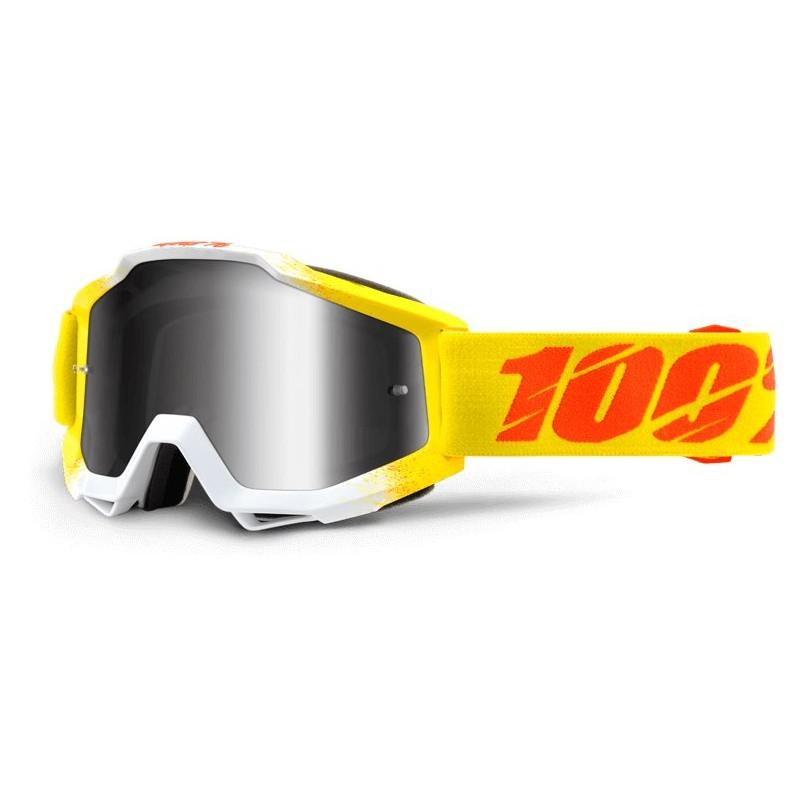100% Accuri Goggles - Mirror Zest - Mirror Silver Lens