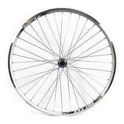 700c Front Wheel - Hybrid Silver Double Wall rim - V-brake Q/R axle hub Silver spokes  36 hole