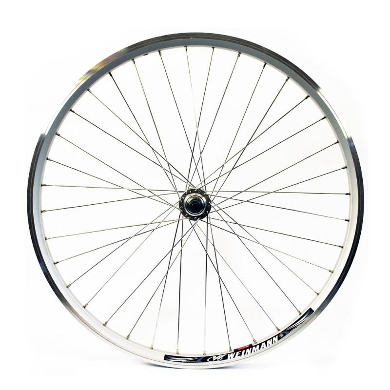 26x1.75 Rear Wheel - Silver Double Wall MTB rim - V-brake Q/R Silver Screw hub Silver spokes 36 hole