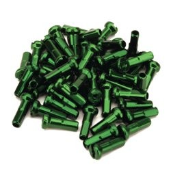 Aluminum Spoke Nipples 16mm Green Pack Of 80