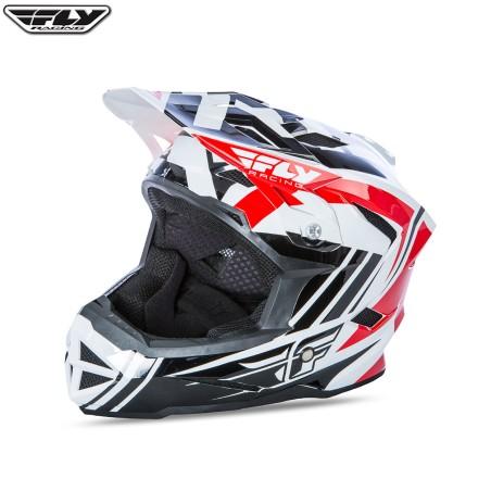 Fly 2017 Bike Default MTB Youth Helmet Red/Black/White