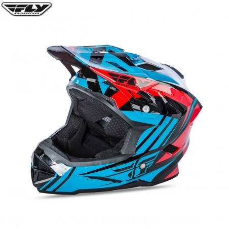 Fly 2017 Bike Default MTB Youth Helmet Teal/Red