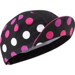Madison Sportive poly cotton cap black polka dots one size