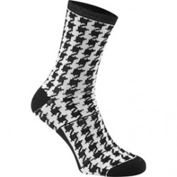 Madison RoadRace Apex long sock houndstooth black / white