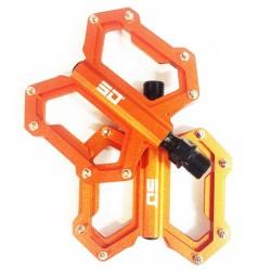 SD CNC Flat Pedal (junior, expert, expert xl) Orange