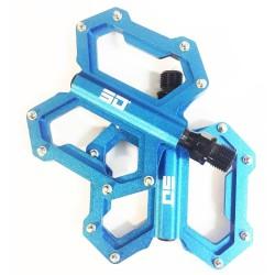 SD CNC Flat Pedal (junior, expert, expert xl) Blue