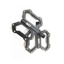 SD CNC Flat Pedal (junior, expert, expert xl) Black