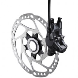 Shimano BR-M615 Deore disc brake calliper without adapter for front or rear