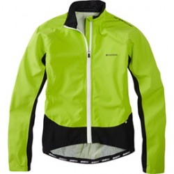 Madison Sportive Hi-Viz women's waterproof jacket lime green reflective