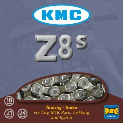 KMC Z8s Sil/Grey Chain 116L