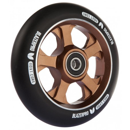 YAK SCAT 100MM SCOOTER WHEEL IN BLACK RED