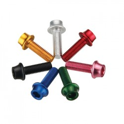Token - Aluminium Bolt for Cage M5x16mm (4pcs) Red