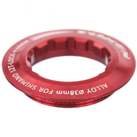 Token - CNC 6061 T6 Alloy Lockring Red Shimano