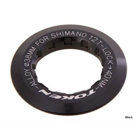 Token - CNC 6061 T6 Alloy Lockring Black Shimano