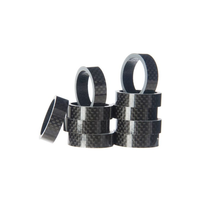 Token - 1-1/8 inches Blank Carbon Spacers In Packs Of 10 10mm