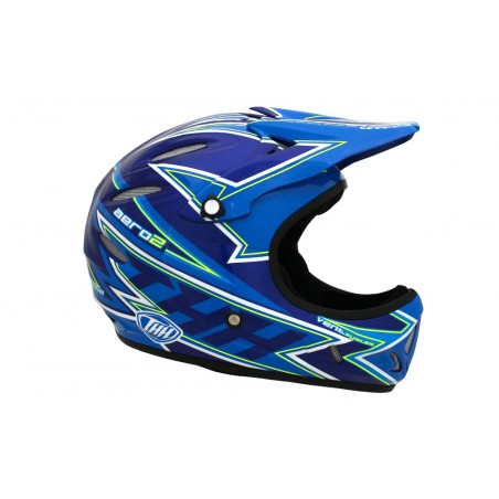 THH AERO2 HELMET WHITE / BLUE / RED ADULT SMALL