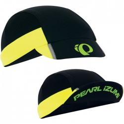 Pearl Izumi Unisex, Transfer Cyc cap, Black / Screaming Yellow, One Size